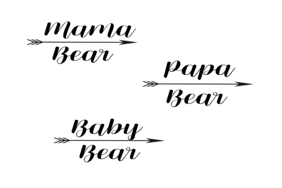 Download Free Bear Family With Arrow Graphic By Angelcakesetc Creative Fabrica for Cricut Explore, Silhouette and other cutting machines.
