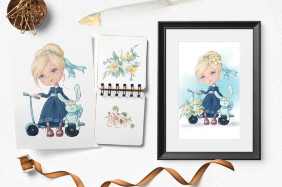 Print on Demand: Blonde Girl Graphic Illustrations By nicjulia - Image 5