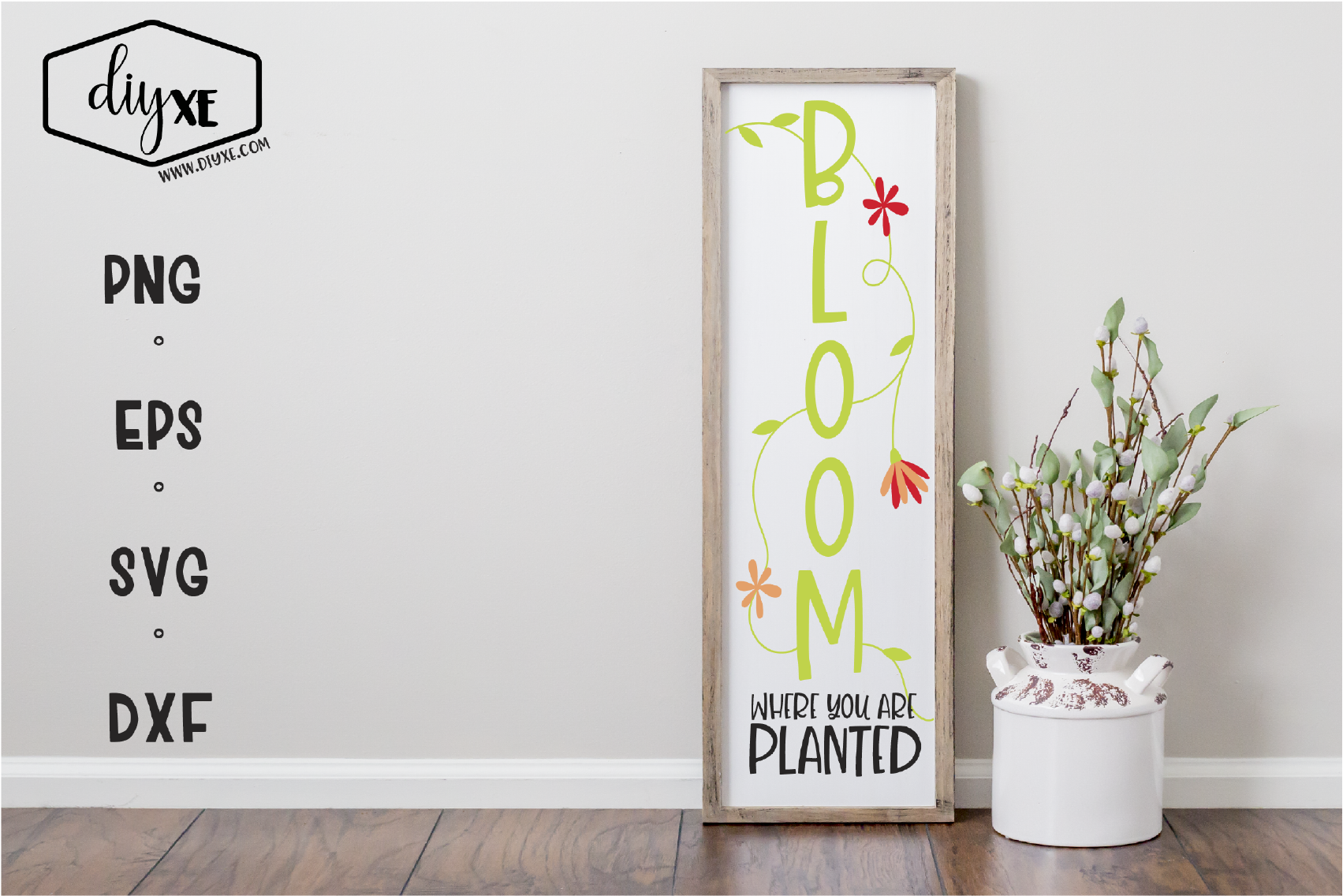 Bloom Where You Are Planted Graphic By Sheryl Holst Creative