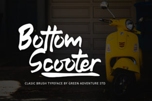 Print on Demand: Bottom Scooter Display Font By Green Adventure Studio