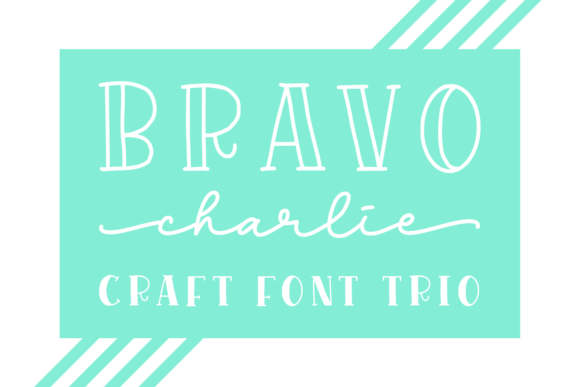 Print on Demand: Bravo Charlie Display Font By Abodaniel