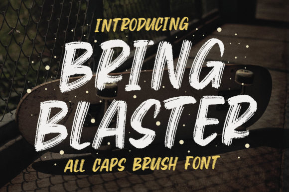 Print on Demand: Bring Blaster Display Font By Blankids Studio