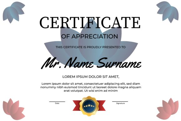 Print on Demand: Certificate of Appreciation Template Graphic Print Templates By Frog Ground