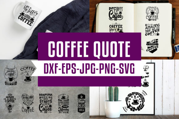 Download Coffee Quotes V5 Black