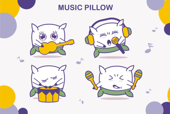 Cute Pillow Charachters Graphic Illustrations By edywiyonopp
