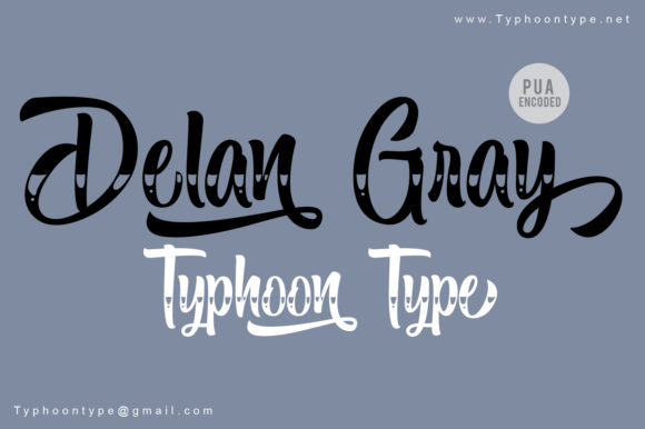 Print on Demand: Delan Gray Script & Handwritten Font By Typhoon Type - Suthi Srisopha