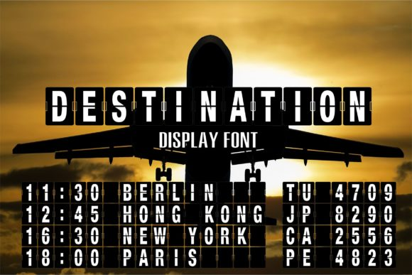 Print on Demand: Destination Display Font By Typography Morozyuk