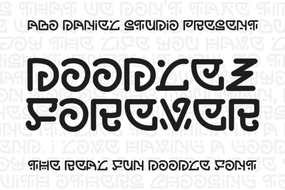 Print on Demand: Doodlez Forever Display Font By Abodaniel