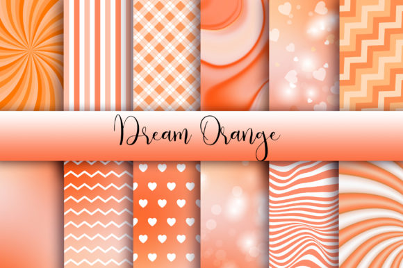 Dream Orange Background Graphic Backgrounds By PinkPearly