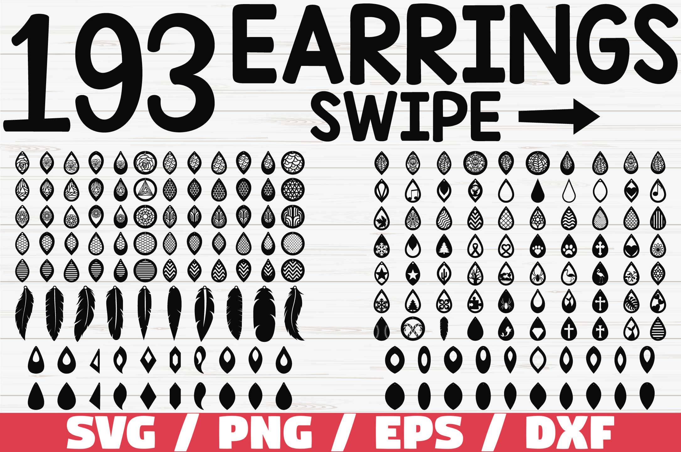 Download Free Earrings Cut File Cricut Graphic By Zecworkshop Creative for Cricut Explore, Silhouette and other cutting machines.