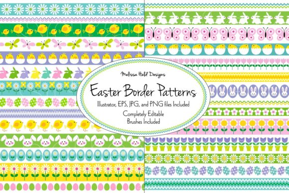 Easter Border Patterns Graphic Patterns By Melissa Held Designs