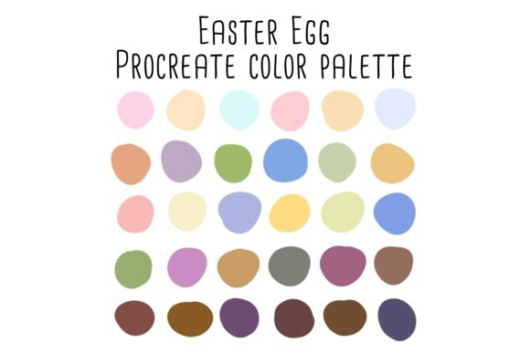 Print on Demand: Easter Egg Procreate Color Palette Graphic Add-ons By RoughDraftDesign