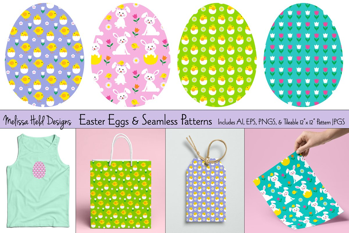 Download Free Easter Eggs Patterns Graphic By Melissa Held Designs for Cricut Explore, Silhouette and other cutting machines.