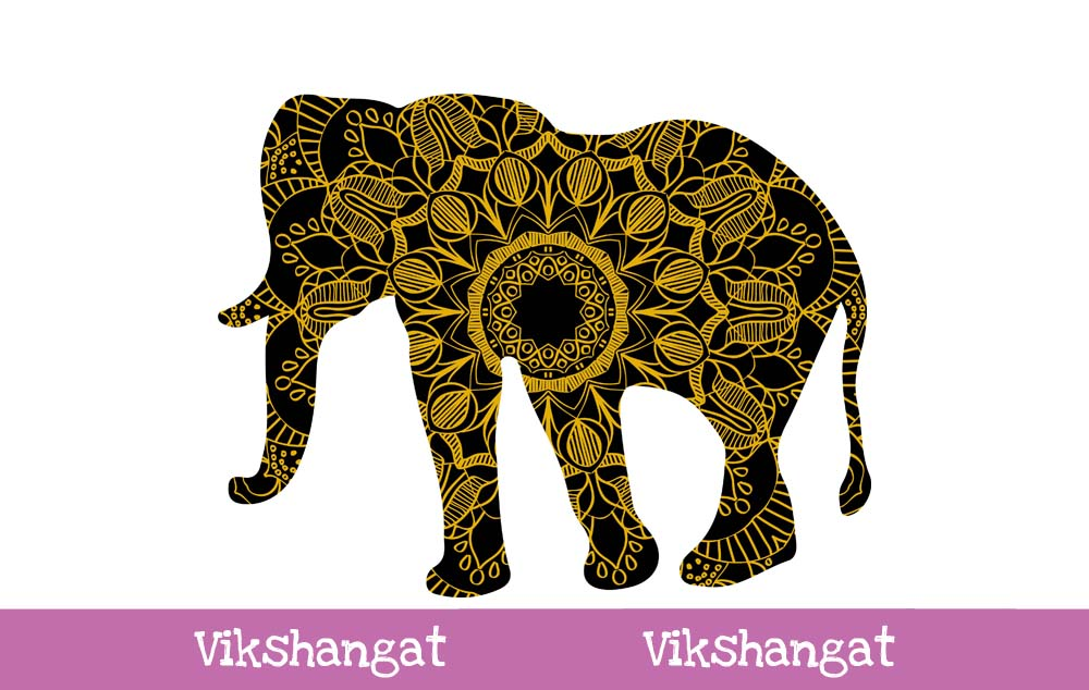 Download Free Elephant Animal Mandala Illustration Graphic By Vikshangat for Cricut Explore, Silhouette and other cutting machines.