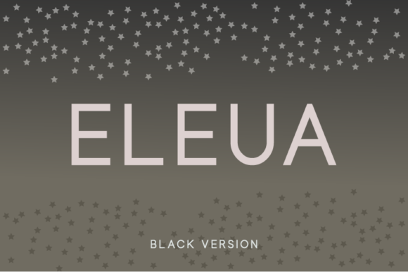 Print on Demand: Eleua Black Sans Serif Font By Huntype