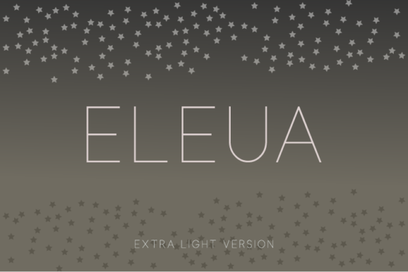 Print on Demand: Eleua Extra Light Sans Serif Font By Huntype