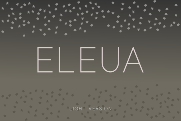 Print on Demand: Eleua Light Sans Serif Font By Huntype