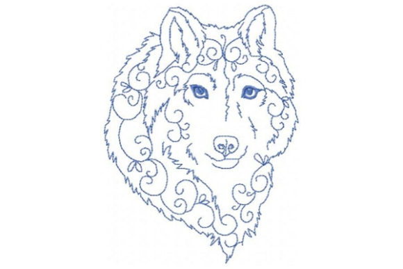 Enchanted Arctic Wolf Wild Animals Embroidery Design By Sue O'Very Designs