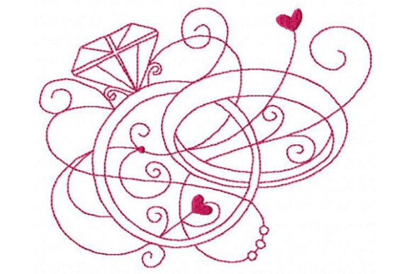 Enchanted Wedding Wedding Embroidery Design By Sue O'Very Designs