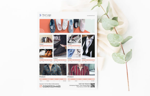 Fashion Product Flyer Template for Sale Graphic Print Templates By ivanjoys19