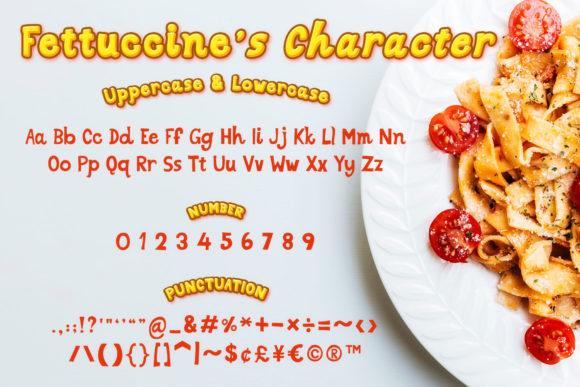 Download Free Fettuccine Font By Numnim Creative Fabrica for Cricut Explore, Silhouette and other cutting machines.