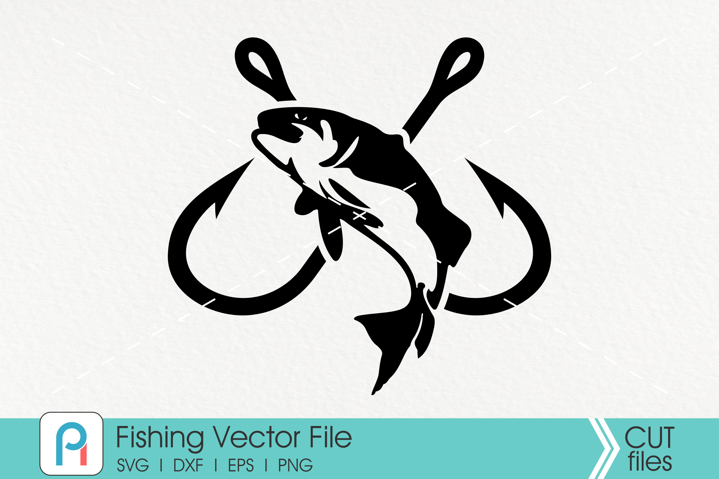 Download Free Fish Hook Graphic By Pinoyartkreatib Creative Fabrica for Cricut Explore, Silhouette and other cutting machines.