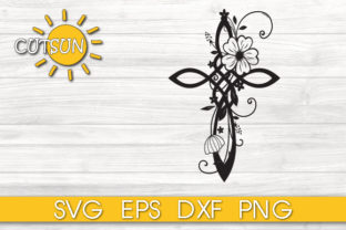Download Free Floral Infinity Cross Graphic By Cutsunsvg Creative Fabrica for Cricut Explore, Silhouette and other cutting machines.