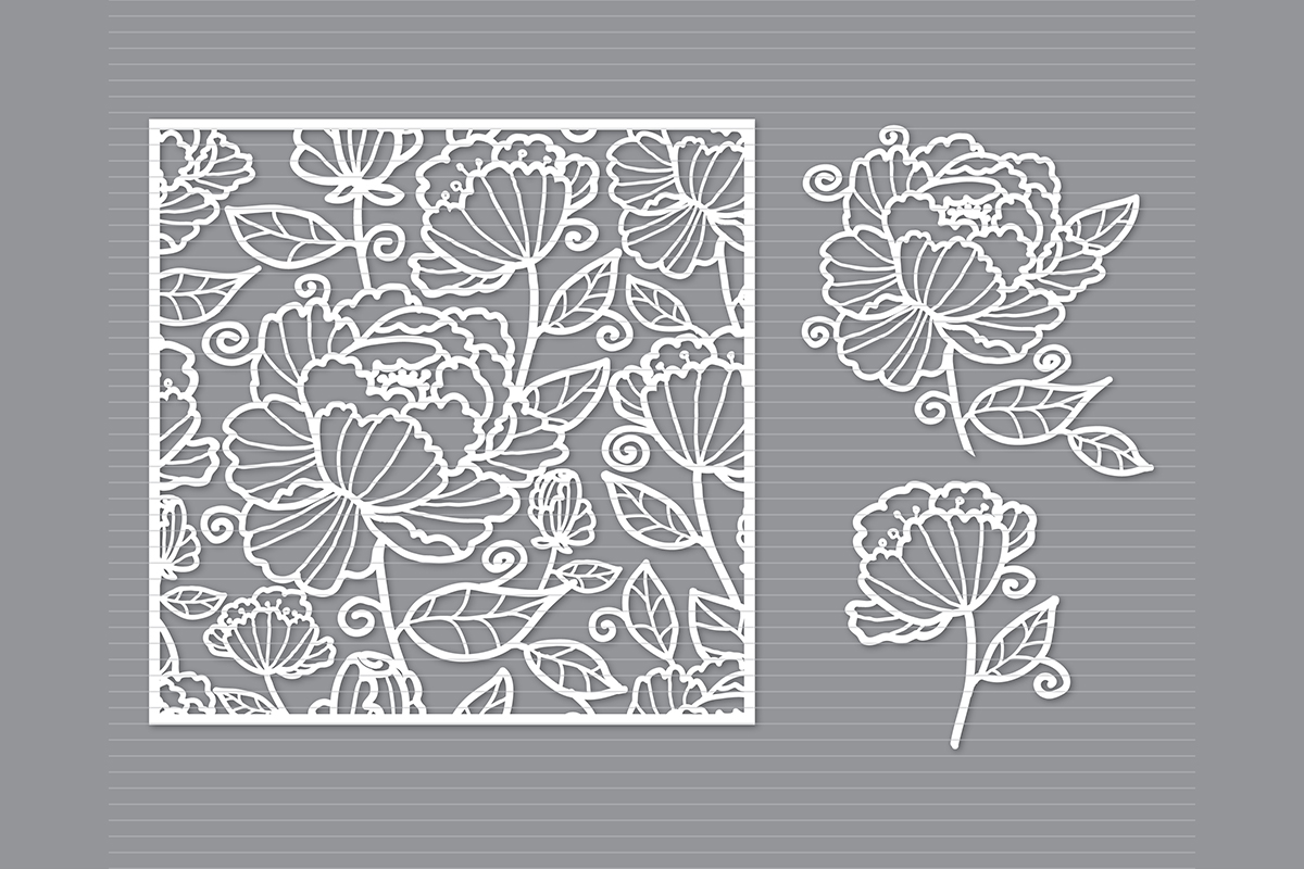 Download Free Flower Graphic By Meshaarts Creative Fabrica for Cricut Explore, Silhouette and other cutting machines.