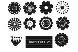 Download Free Flowers Silhouette Bundle Graphic By Meshaarts Creative Fabrica for Cricut Explore, Silhouette and other cutting machines.
