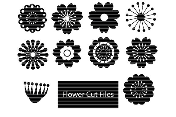 Print on Demand: Flowers Silhouette Bundle  Graphic Crafts By MeshaArts