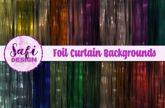 Print on Demand: Foil Curtain Backgrounds Graphic Backgrounds By Safi Designs