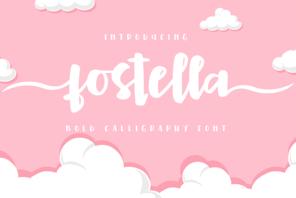 Print on Demand: Fostella Script & Handwritten Font By Abodaniel