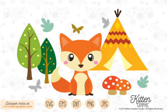 Download Free Fox Set Graphic By Kittengraphicstudio Creative Fabrica for Cricut Explore, Silhouette and other cutting machines.