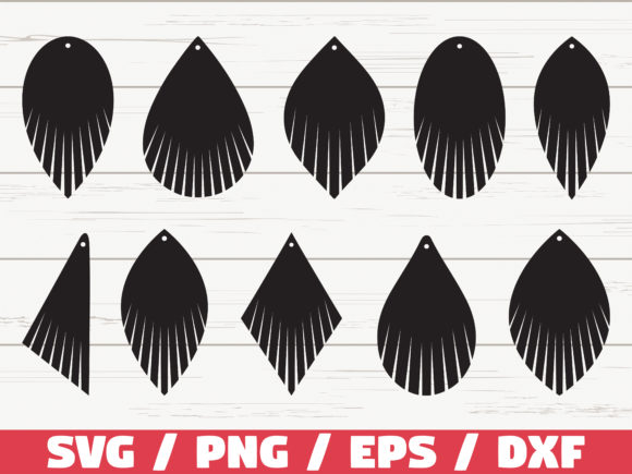 Download Free Fringe Earring Cut Files Cricut Graphic By Zecworkshop SVG Cut Files
