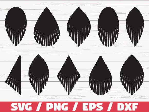 Download Free Fringe Earring Cut Files Cricut Graphic By Zecworkshop for Cricut Explore, Silhouette and other cutting machines.