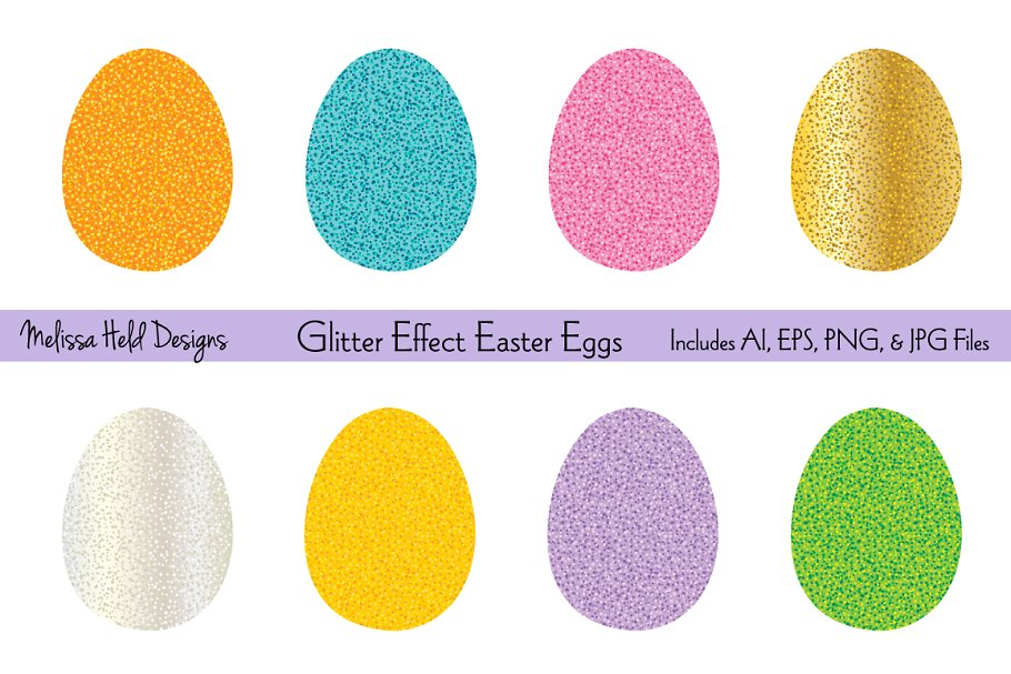 Download Free Glitter Easter Egg Clipart Graphic By Melissa Held Designs for Cricut Explore, Silhouette and other cutting machines.