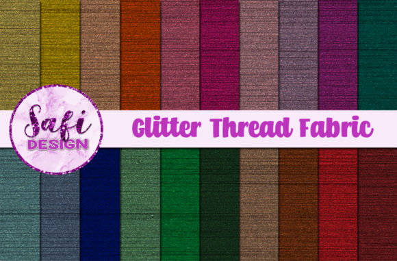 Print on Demand: Glitter Thread Fabric Graphic Backgrounds By Safi Designs