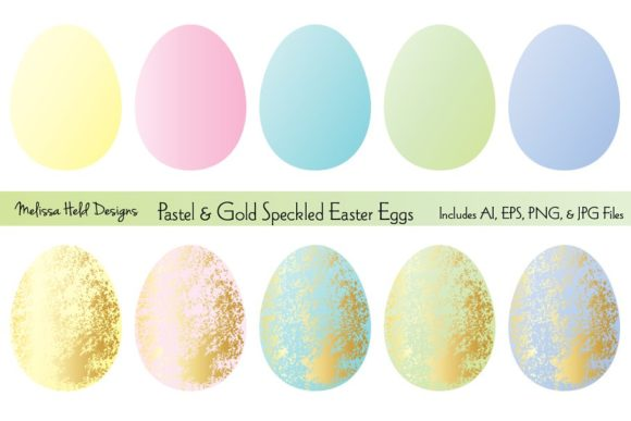 Download Free Gold Speckled Easter Egg Clipart Graphic By Melissa Held Designs for Cricut Explore, Silhouette and other cutting machines.