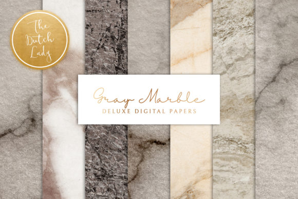 Print on Demand: Gray Marble Texture Backgrounds Graphic Backgrounds By daphnepopuliers