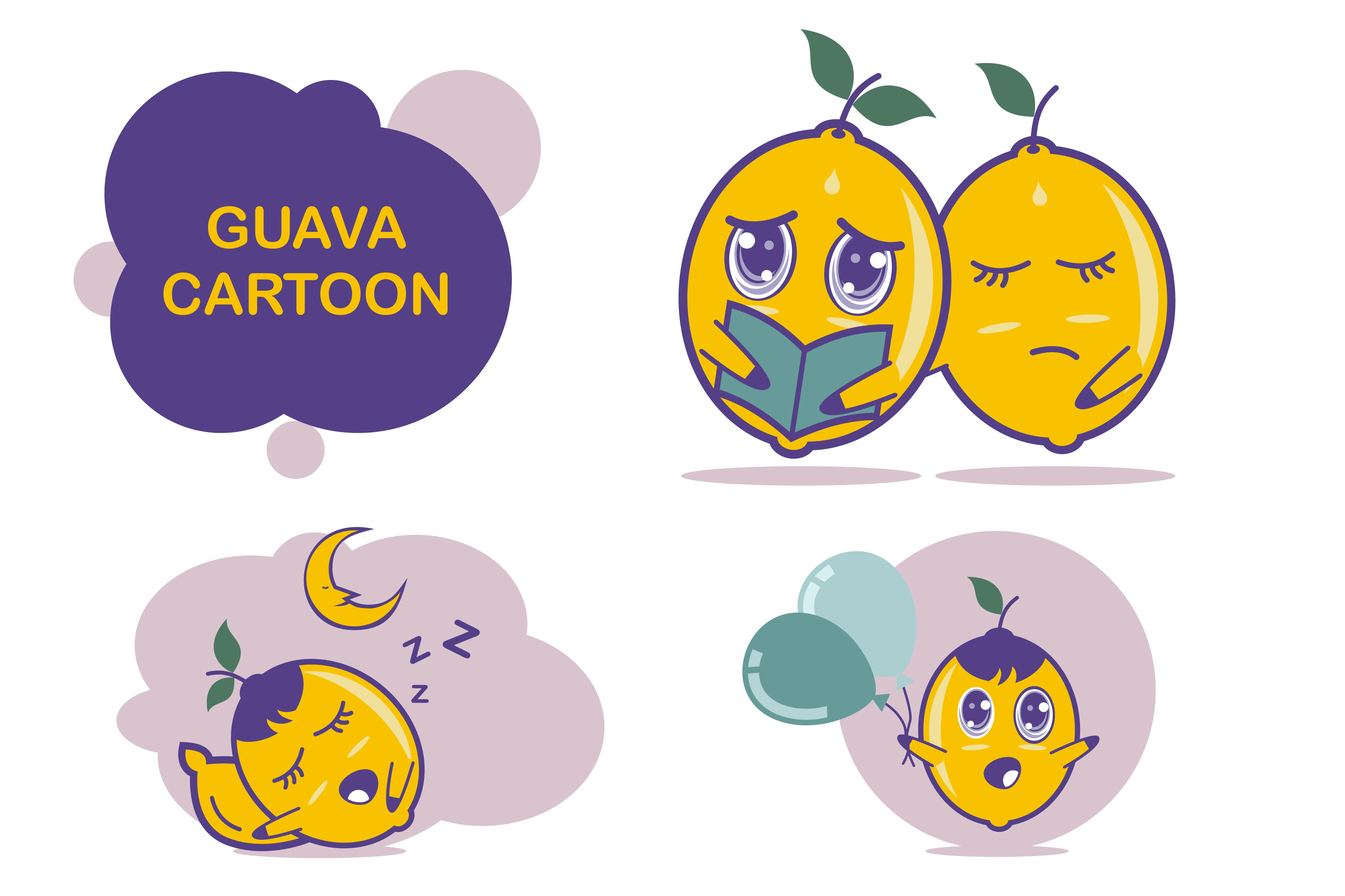 Download Free Guafa Fruit Cartoon Character Graphic By Edywiyonopp Creative Fabrica for Cricut Explore, Silhouette and other cutting machines.