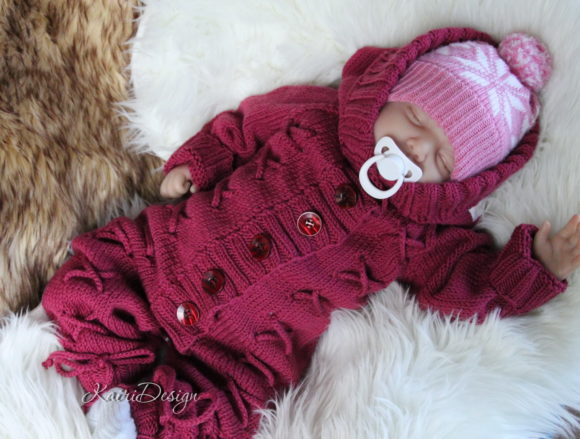 Hand Knitting Pattern Baby Jumpsuit Graphic