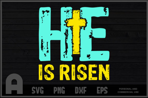 Download Free He Is Risen Easter Day Graphic By Aartstudioexpo Creative Fabrica for Cricut Explore, Silhouette and other cutting machines.