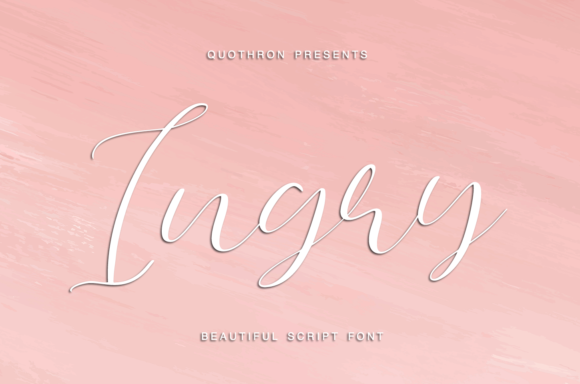Print on Demand: Ingry Script & Handwritten Font By it_was_a_good_day