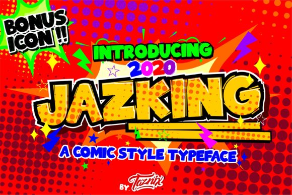 Print on Demand: Jazking Display Font By taznixart