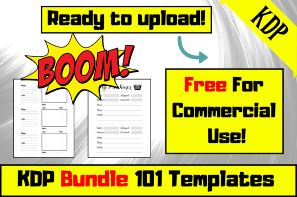 Print on Demand: KDP Bundle 101 Templates (KDP Interiors) Graphic KDP Interiors By Hungry Puppy Studio