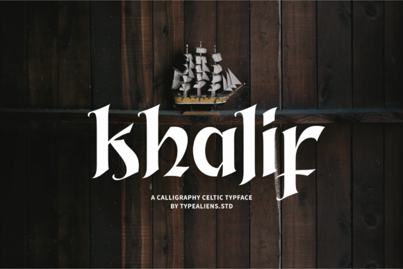 Print on Demand: Khalif Blackletter Font By typealiens