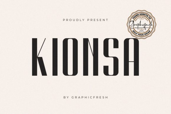 Print on Demand: Kionsa Sans Serif Font By Sameeh Media