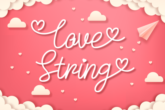 Print on Demand: Love String Script & Handwritten Font By attypestudio