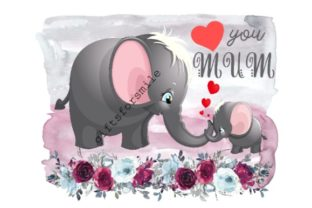 Download Free Love You Mum Mothers Day Special Graphic By Aarcee0027 for Cricut Explore, Silhouette and other cutting machines.