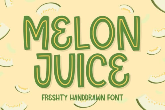 Print on Demand: Melon Juice Display Font By goodjavastudio